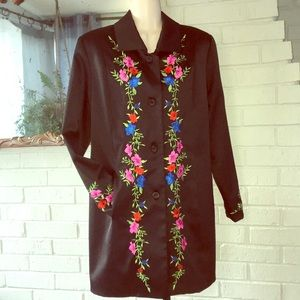 NYCard 8 petites Embroider black Show jacket NEW